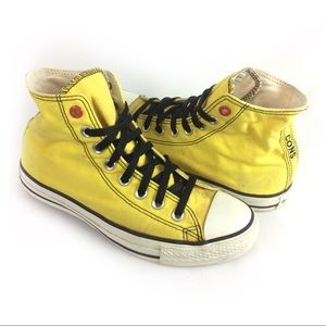 CONVERSE | yellow high top Converse Red Series 8.5